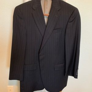 Hart Schaffer and Marx thin striped suit
